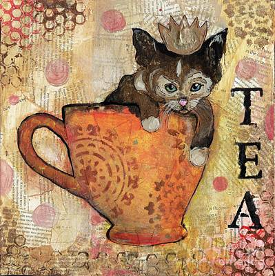 Mixed Media - Tea With The Queen by Annalisa Loevenguth