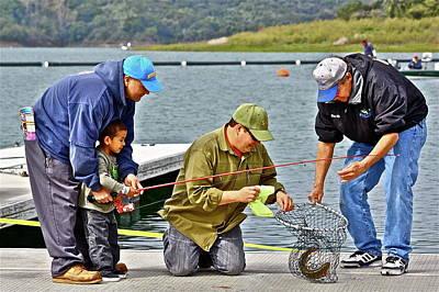 Teach Him To Fish Art Print