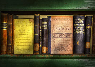 Teacher - Books You Use In School  Art Print by Mike Savad