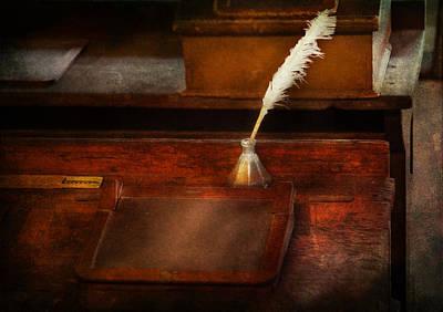 Teacher - The Writing Desk Art Print by Mike Savad