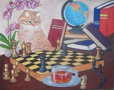 Back To School Painting - Teacher's Pet by Sofya Mikeworth
