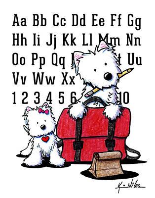 West Highland Drawing - Teacher's Pet Westies by Kim Niles