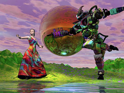 Digital Art - Teaching Bobo To Dance by Dave Martsolf