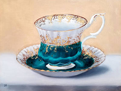 Painting - Teacup by Linda Merchant