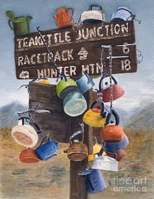 Death Valley Painting - Teakettle Junction by Karen Fleschler