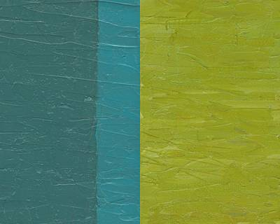 Painting - Teal And Olive  by Michelle Calkins