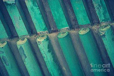 Photograph - Teal Chinese Ceiling by Carol Groenen