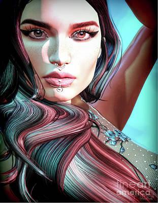 Digital Art - Teal by Georgina Hannay