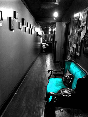 Photograph - Teal Settee by Iowan Stone-Flowers