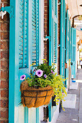 Photograph - Teal Shutters And Window Box by Kristina Austin Scarcelli