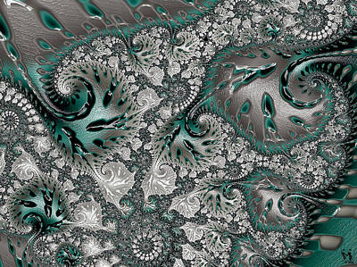 Digital Art - Teal Tabinet by Susan Maxwell Schmidt