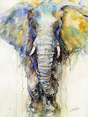 Teal Tusker Art Print