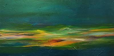 Painting - Teal Waters by Carrie Godwin