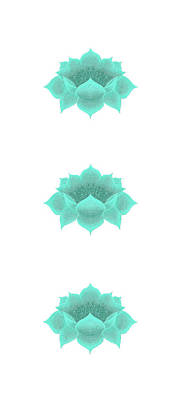 Digital Art - Teal Lotus by Elizabeth Lock