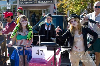 Mannequin Dresses Rights Managed Images - Team 47 at Emma Crawford Coffin Races in Manitou Springs Colorado Royalty-Free Image by Steven Krull