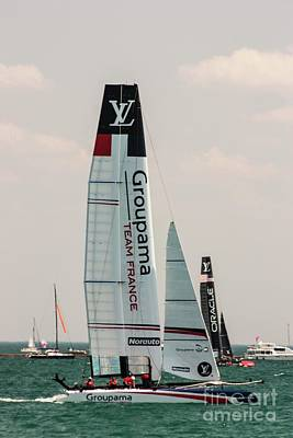Photograph - Groupama Team France by David Bearden