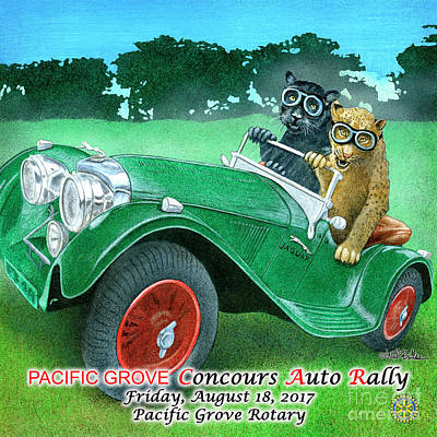 Painting - Team Jaguar Poster Print by Will Bullas