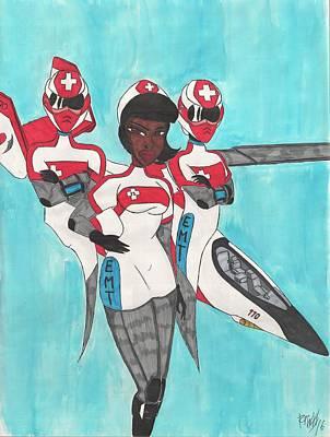 Team Laura Art Print by Ronald Woods