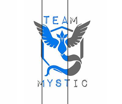 Team Mystic Art Print by Marianna Mills