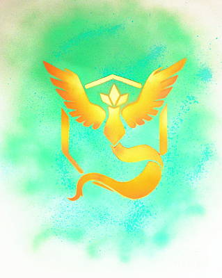 Painting - Team Mystic Wrong Color by Justin Moore