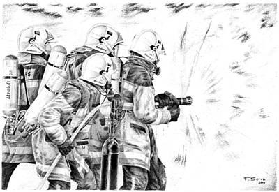 Drawing - Team Of Fire by Ferran Serra
