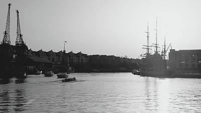 Photograph - Team Of Man Rowing On The River Avon In Bristol by Jacek Wojnarowski