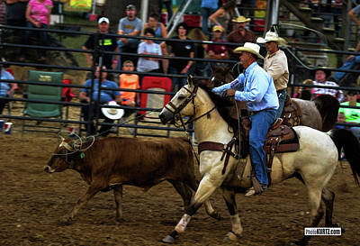Photograph - Team Roping Challenges by Jeff Kurtz