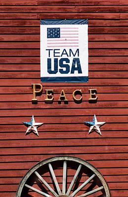 Team Usa Peace Original by Betty Denise
