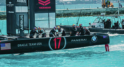 Photograph - Team Usa Sets Out To Sea by Jeff at JSJ Photography