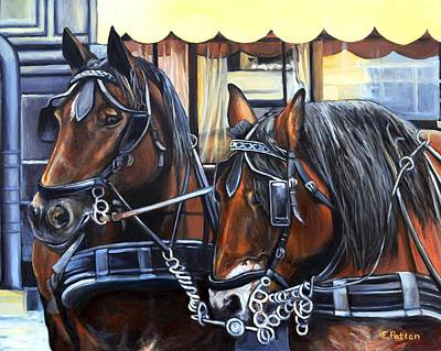 Painting - Team Work by Eileen Patten Oliver