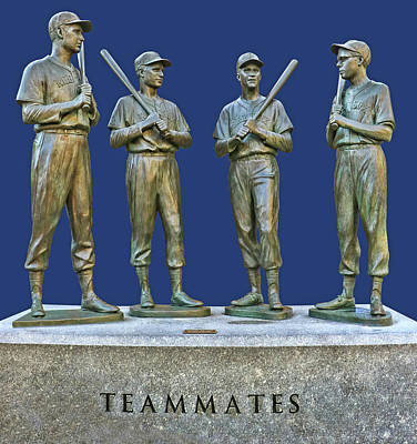Photograph - Teammates, Ted, Bobby, Dom And Johnny by Allen Beatty