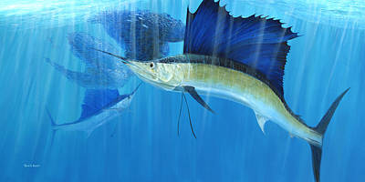 Teamwork Sailfish Art Print