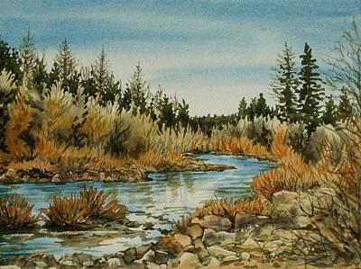 Teanoway River Wa Art Print