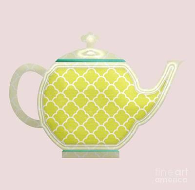 Digital Art - Teapot Garden Party 2 by J Scott