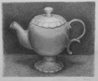 Painting - Teapot by Grace Diehl