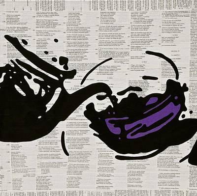 Teapot Mixed Media - Teapot by Jen Gabriele