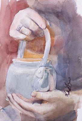 Langlois Painting - Teapot Light by Kelsey Langlois