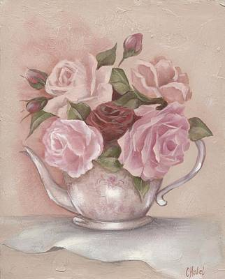 Teapot Roses Art Print by Chris Hobel