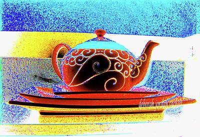 Photograph - Teapot Scroll by Deborah jordan Sackett