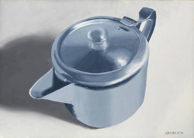 Teapot Painting - Teapot Still Life Oil Painting by Mark Webster
