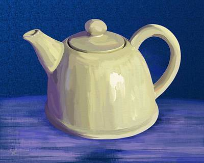 Digital Art - Teapot by Victor Shelley