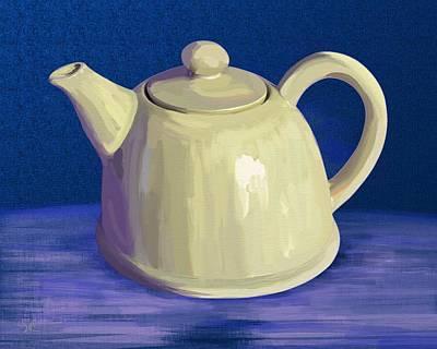Digital Art - Teapot by Victor Shelley