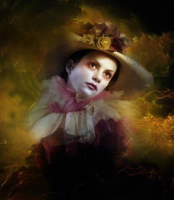 Clown Digital Art - Tear Swept by Mary Hood