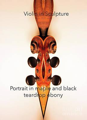 Fiddle Photograph - Teardrop Ebony  by Steven Digman