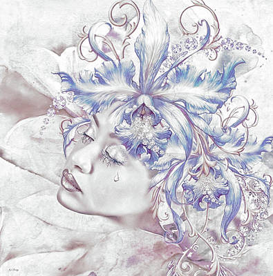 Erotica Mixed Media - Tearful Beauty 03 by G Berry