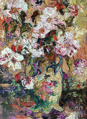 Painting - Tearoses Impressionist Oil Painting by Ginette Callaway