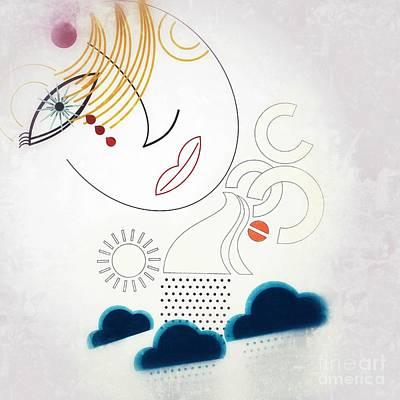 Tears Drawing - Tears And Rain by Nitesh Bhatia