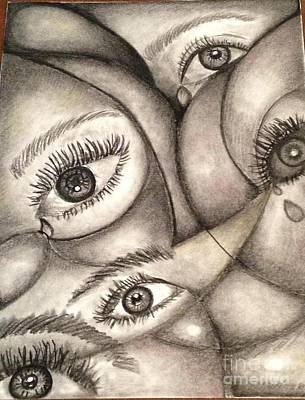 Tears Drawing - Tears Are Cleansers To The Soul by Laurie Cairone