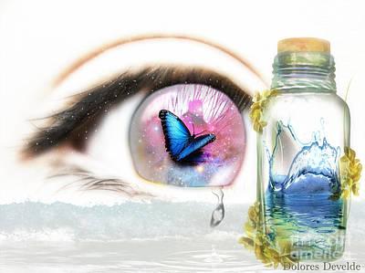 Tears In A Bottle Art Print by Dolores Develde