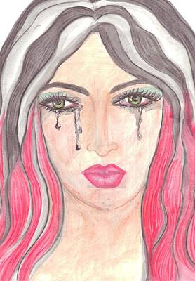 Tears Drawing - Tears by Lorena Farias